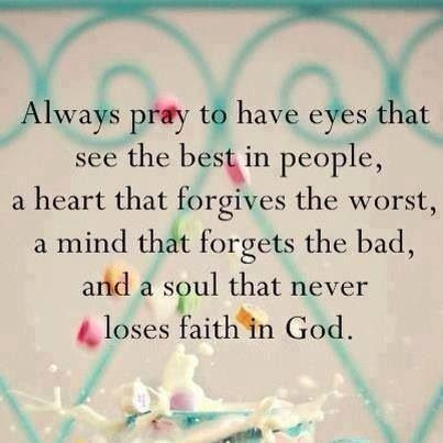 Always pray.