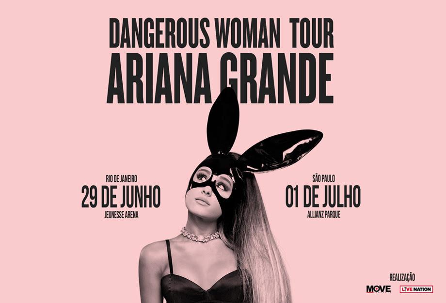"""Comunicado oficial sobre a turnê """"Dangerous Woman"""" de Ariana Grande"""
