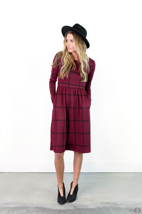 Cents of Style: Windowpane Dress with Pockets only $34.95