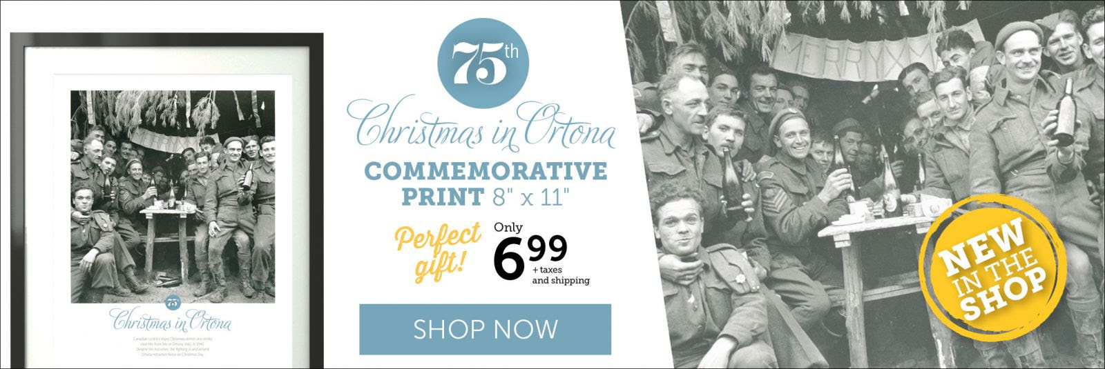 Christmas in Ortona Commemorative Print for only $6.99