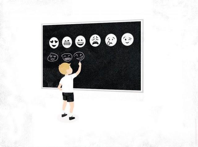 Emoji là thứ ngôn ngữ mới mà chúng ta cần phải học để theo kịp thời đại.,xã hội hiện đại,tranh biếm họa