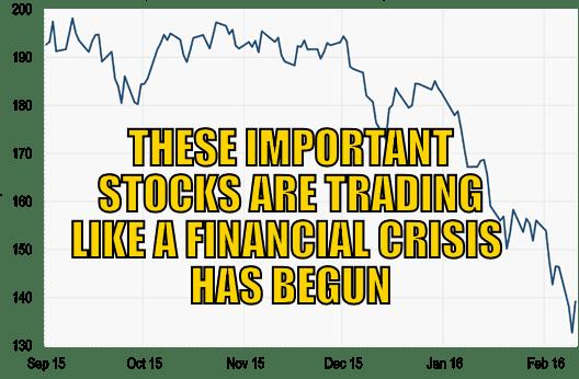 Stocks trading like Financial crisis