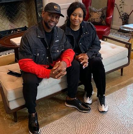 Biodun Fatoyinbo shares photo of himself and his wife twinning in Denim