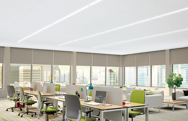 Lyra Concealed Ceiling in an office space environment