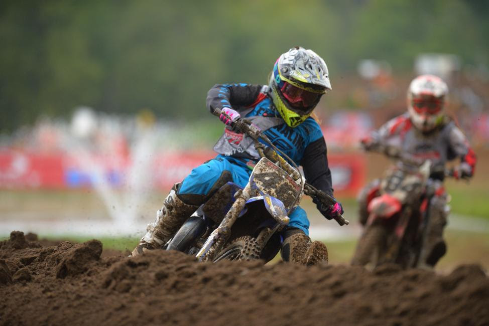 Jazzmyn Canfield has her eyes set on the Girls (11-16) National Championship after an impressive first moto win.