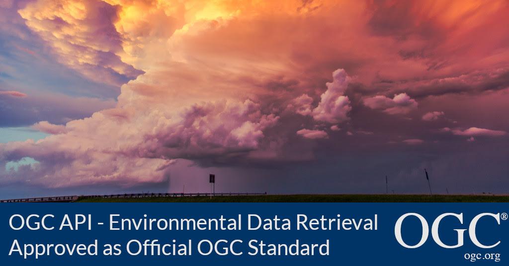 Banner announcing adoption of OGC API - EDR as official OGC Standard