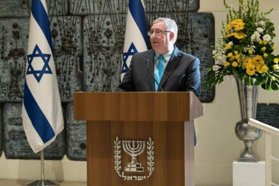 Joel-PresidentRivlin-speech