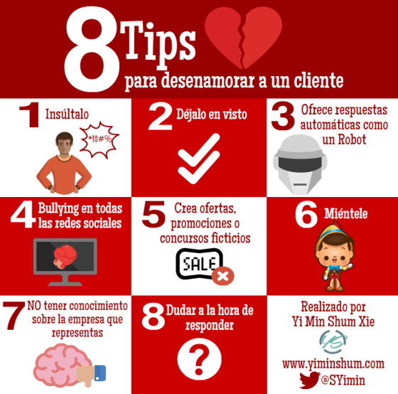 8 consejos para desenamorar a un cliente