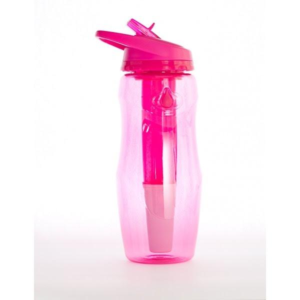Sticla de apa cu filtru de carbon si gel de racire non toxic, 946 ml ROZ - Irisana