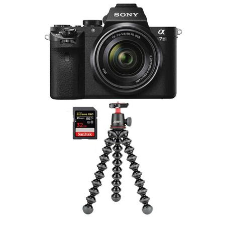 Alpha a7II Mirrorless Camera with FE 28-70mm f/3.5-5.6 OSS Lens - Bundle With Sony 64GB SF