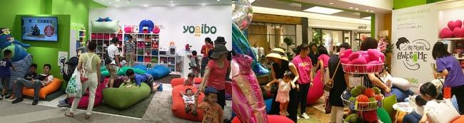 ▲Yogibo Store 混雑時の様子
