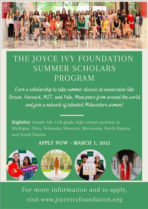 Joyce Ivy Summer Scholars Program