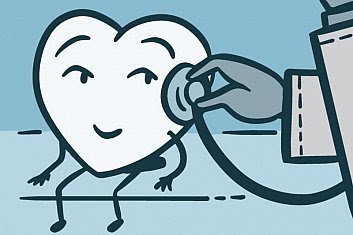 Illustration of a smiling heart