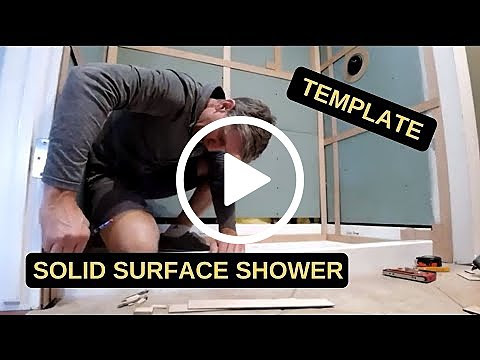 Solid Surface Shower - Template