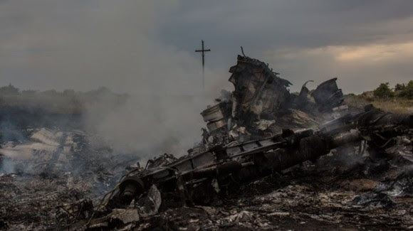 Lugar donde se estrelló el Boeing. Foto: Ria Novosti.