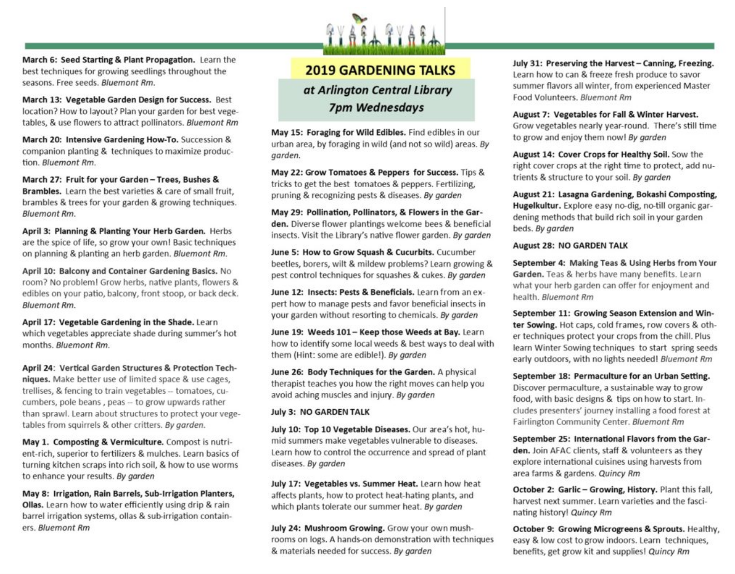 DUG Network July Urban Gardener Newsletter - Melvin Hazen Community