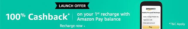 100% cashback on 1st recharge | Amazon Pay
