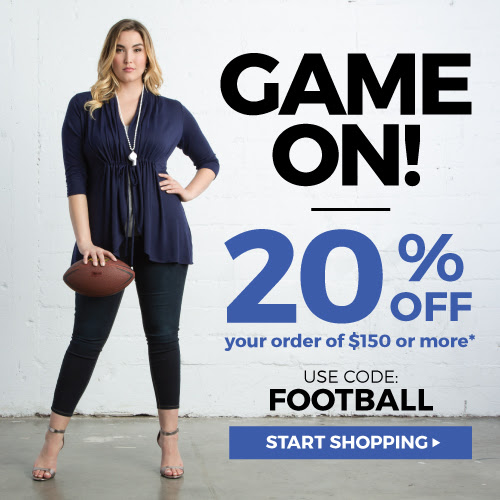 Kiyonna: GAME ON! 20% off Orde...