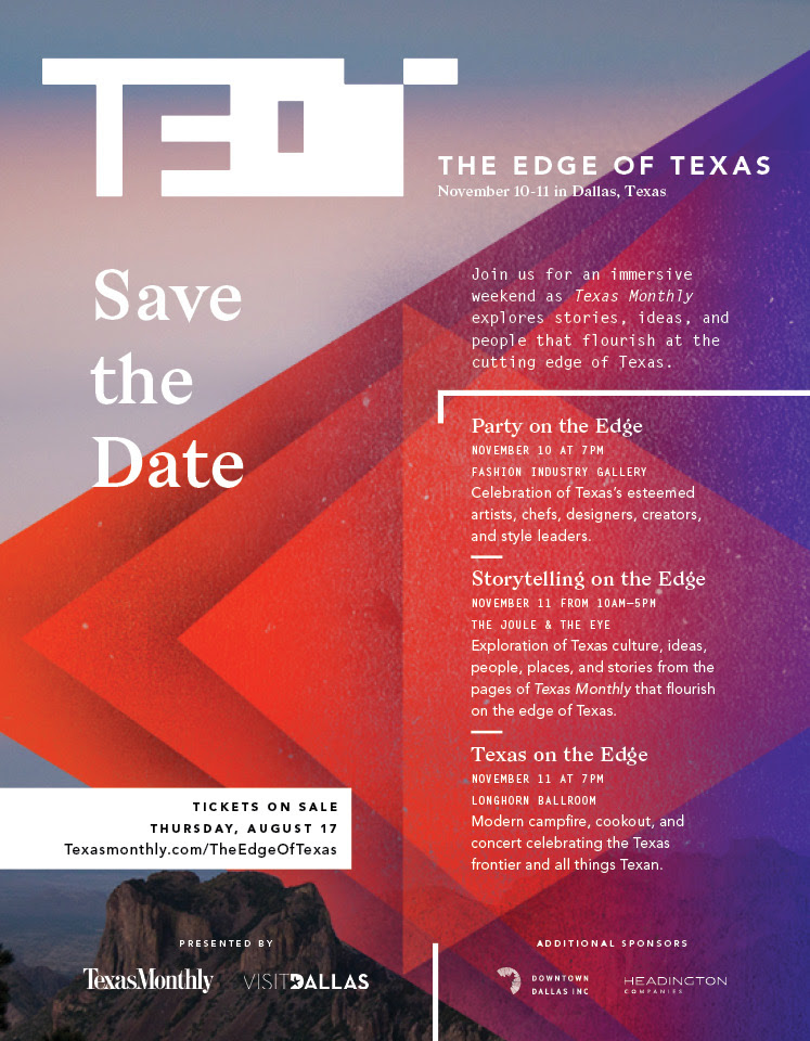 The Edge of Texas - Save the Date
