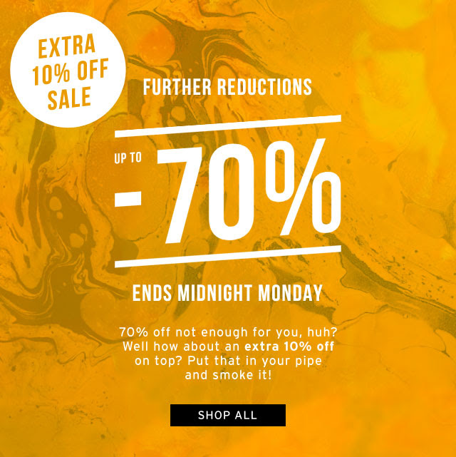 Mid season sale up to 70% off + extra 10% off sale at Topman.com  cted styles at Topman.com