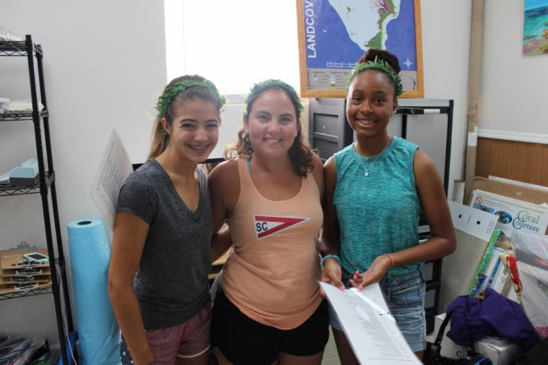 Ebany Hanna, Macy Yust, Lianna Burrows, interns, summer camp