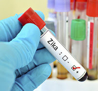 Blood vial with Zika on the label
