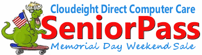 Cloudeight Direct Computer Care SeniorPass Memorial Day Sale