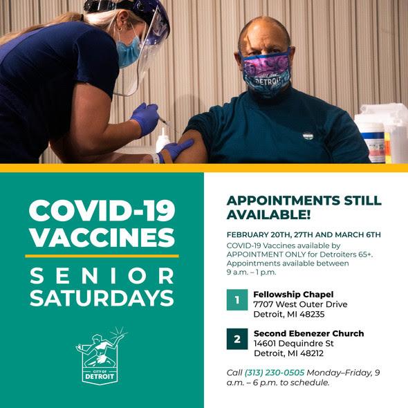 COVID Vaccines Senior Saturdays