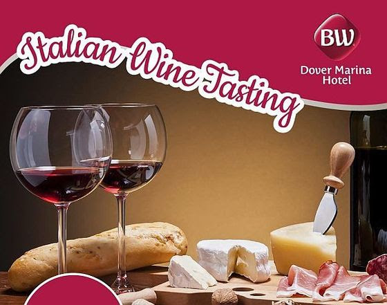 Dover Marina Hotel Italian Wine Tasting Poster