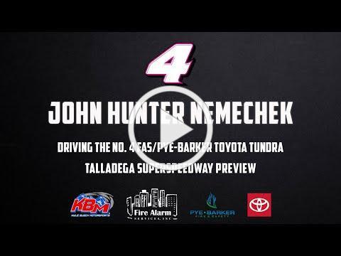 John Hunter Nemechek   Talladega Superspeedway Preview