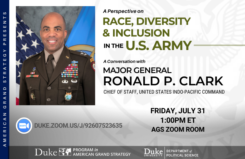 The Army's Efforts Towards Racial Equality @ ZOOM
