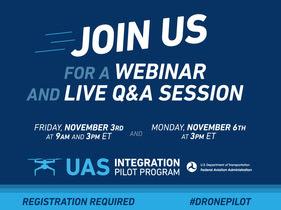 FAA UAS Webinar Information Ad