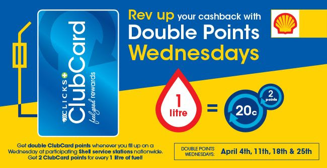 Rev up your cashback with double points Wednesdays