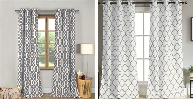Modern Geometric Curtains + Mo...