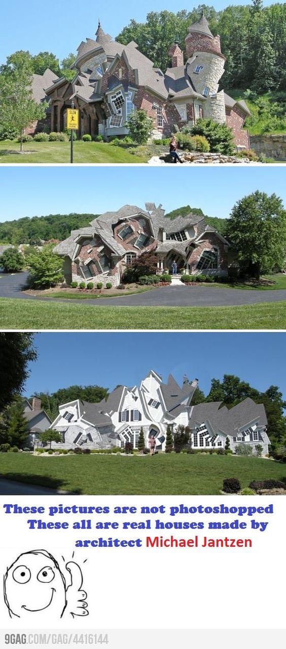 Вот Это Да! Там когда-то был криво человек, который построил дом кривой ....