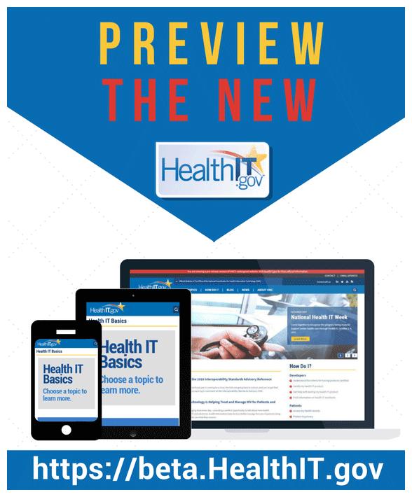 HealthIT.gov Beta Website
