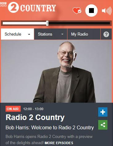 Bob Harris, BBC2 Country Radio