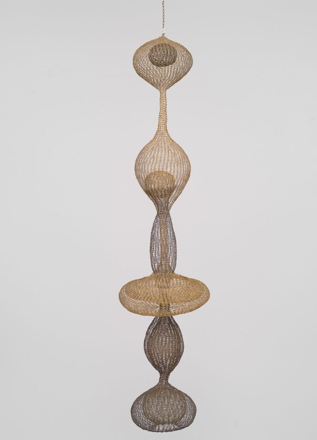 Ruth Asawa, Untitled (S.270, Hanging Six-Lobed, Complex Interlocking Continuous Form within a Form with Two Interior Spheres)