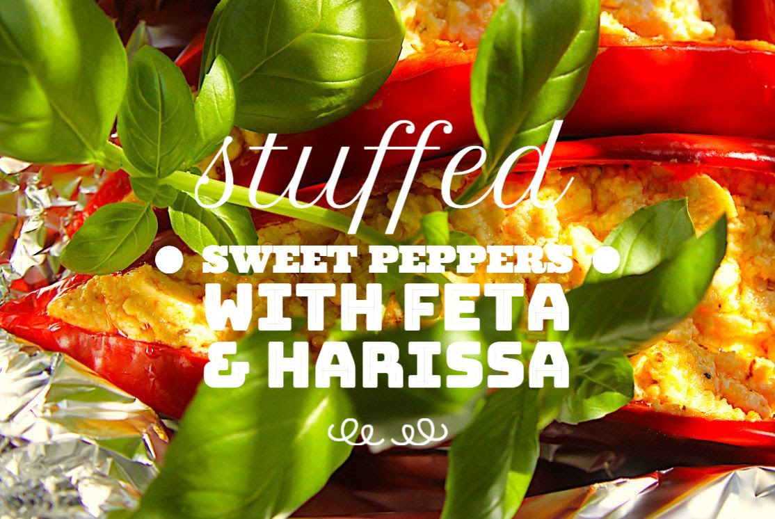 STUFFED SWEET PEPPERS WITH FETA AND HARISSA