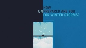 Icy window with words: How (un)prepared are you for winter storms?