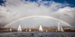 start of RORC Trans-Atlantic race off Grand Canaria, Canary Islands