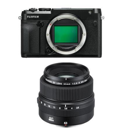 GFX 50R Medium Format Mirrorless Camera (Body Only) - with Fujifilm FUJINON GF 63mm F/2.8