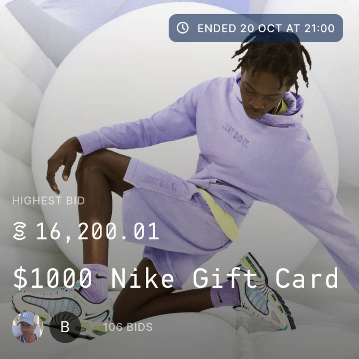 Sweatcoin auctions