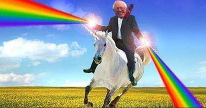 bernie unicorn rainbow