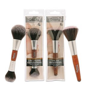 for your Beauty Professional 2-in-1 Puder- & Rougepinsel + Spezial-Puderpinsel