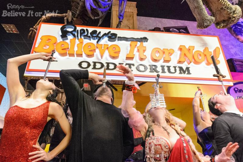 Ripley's Believe It or Not! Odditorium Orlando 2017 World Sword Swallower's Day