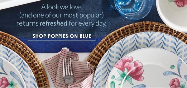 SHOP POPPIES ON BLUE