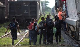 Migrants have been using several methods to cross the U.S.-Mexico border, such as hopping aboard trains bound for the north. Critics of President Obama's amnesty say immigration enforcement has become lax and that too many beds at processing facilities for illegal crossers in the U.S. continue to go unused. (Associated Press)