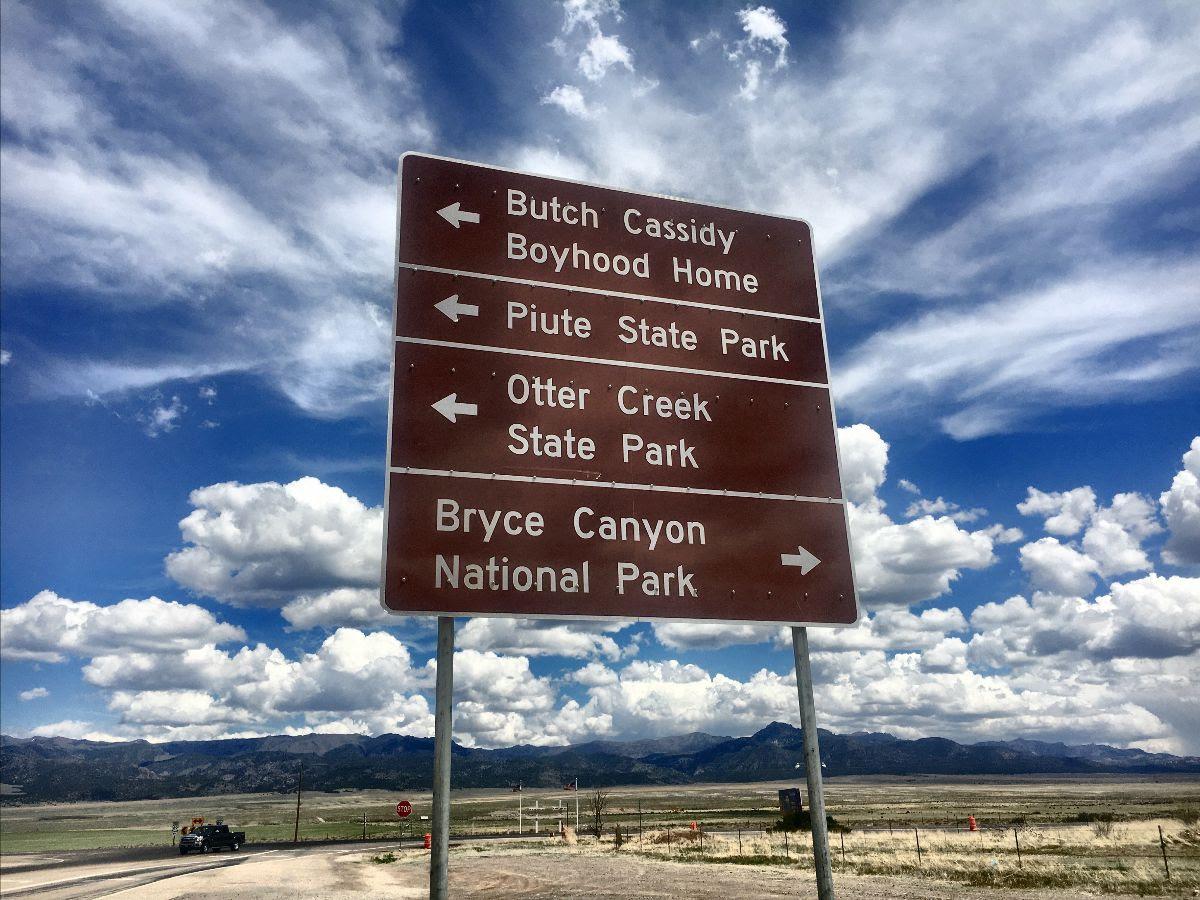 Butch Cassidy Sign Utah