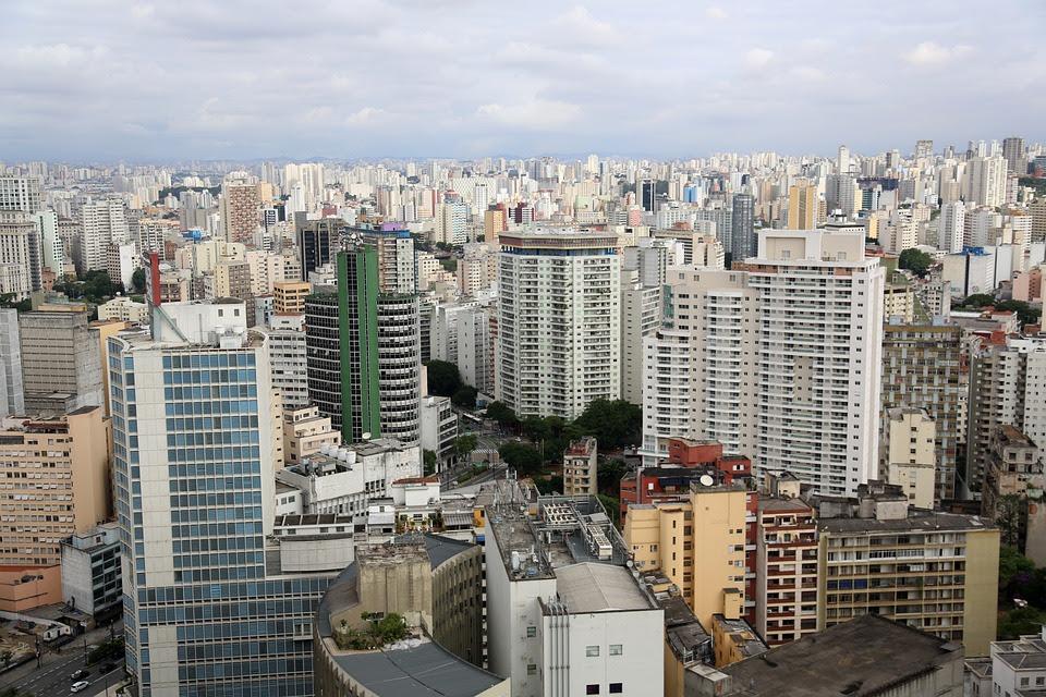 São Paulo, Edifícios, Urbanos, Foto Aérea, Arquitetura